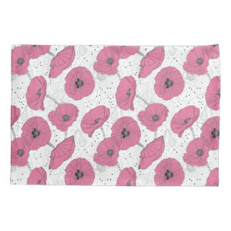 Poppy Flowers Pattern pillowcases