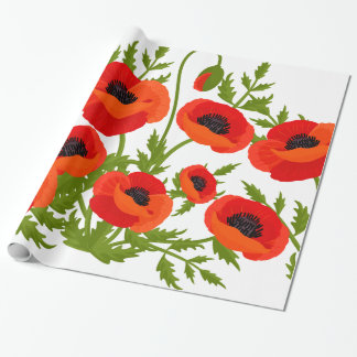 Poppy Flowers Wrapping Paper