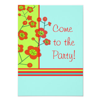 Poppy Fun Party Invitation