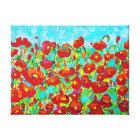 """Poppy Gathering"" Fine Art by Susi Franco Canvas Print"