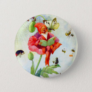 Poppy Gnome 2 Inch Round Button