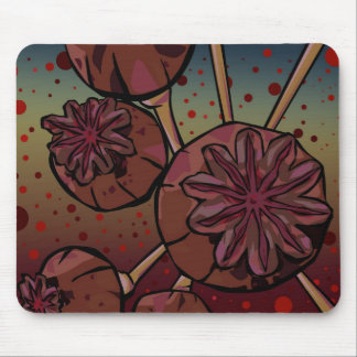 Poppy Heads Mouse Pad