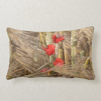 Poppy in the corn field pillow