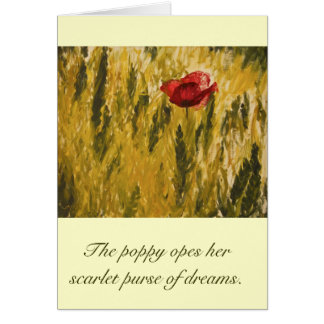 Poppy in the Wheat Field Card