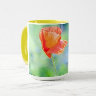 Poppy in the wind mug