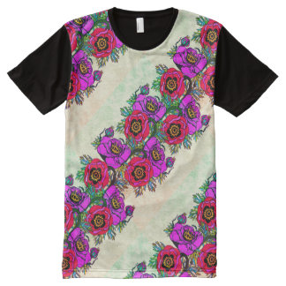 Poppy-ish Cool & Bright All-Over-Print T-Shirt