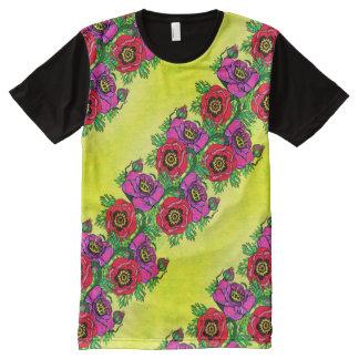Poppy-ish on Yellow All-Over-Print T-Shirt