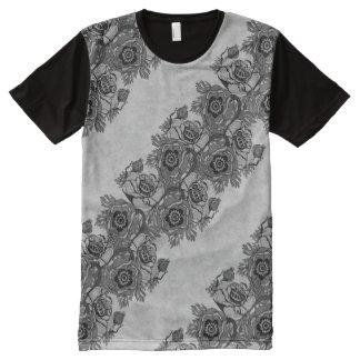 Poppy-ish Runner in Black All-Over-Print T-Shirt