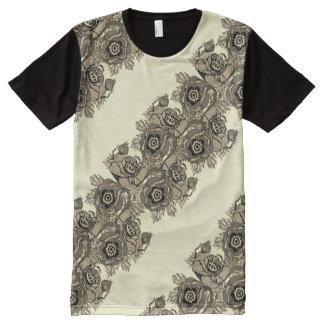 Poppy-ish Runner in Sepia All-Over-Print T-Shirt
