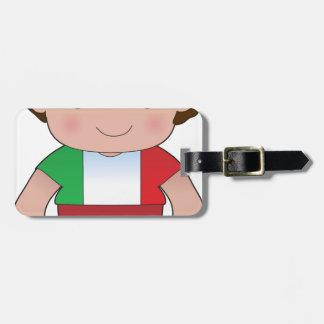 Poppy Italian Boy Luggage Tag
