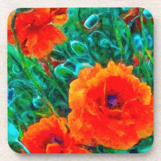 poppy love coaster