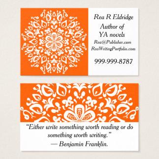 Poppy Mandala Business Card
