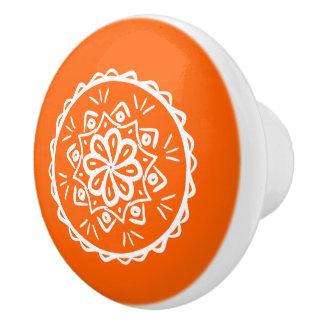 Poppy Mandala Ceramic Knob