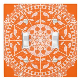 Poppy Mandala Light Switch Cover