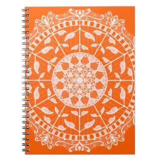 Poppy Mandala Notebook
