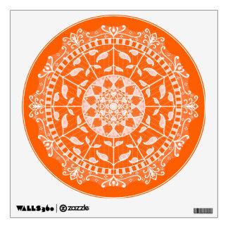 Poppy Mandala Wall Decal