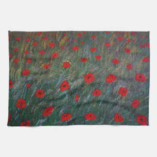 poppy meadow kitchen towel