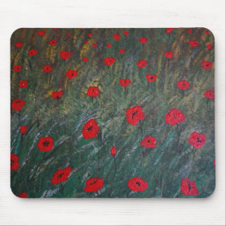 Poppy meadow mouse pad