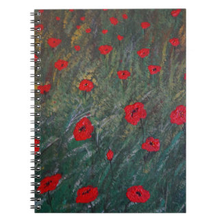 Poppy meadow notebook