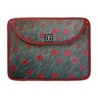 Poppy meadow sleeve for MacBooks