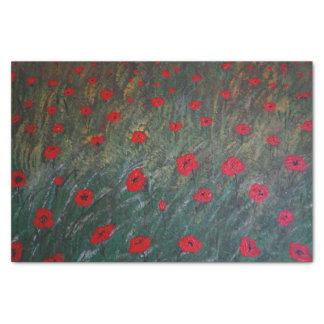 Poppy meadow tissue paper