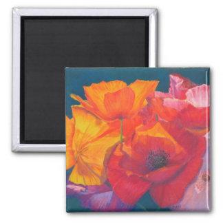 Poppy Medley Painting Magnet