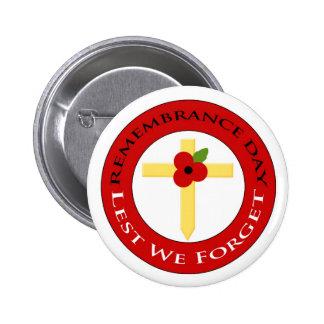 Poppy on cross - Badge 2 Inch Round Button