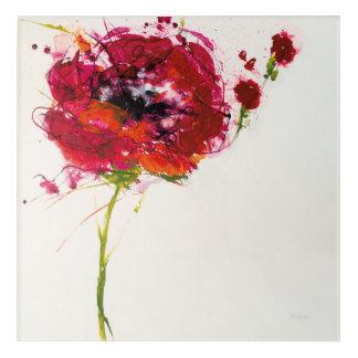 Poppy on White Acrylic Wall Art