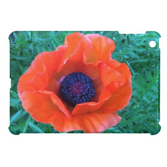 POPPY Oriental Red Orange --- iPad Mini Case