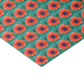 POPPY Oriental Red Orange --- Tissue Paper