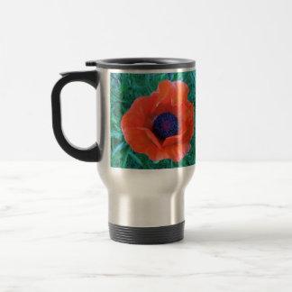 POPPY Oriental Red Orange --- Travel Mug