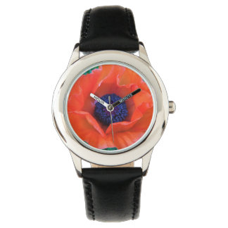 POPPY Oriental Red Orange --- Wrist Watches