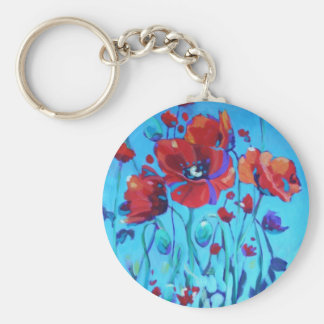 Poppy Painting V Basic Round Button Keychain