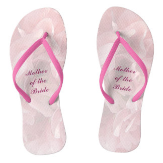Poppy Petals Wedding Mother of Bride Flip Flops