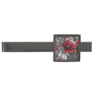 Poppy Pops Gunmetal Finish Tie Clip