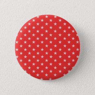 Poppy Red And White Stars 2 Inch Round Button