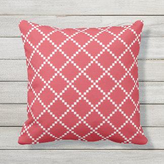 Poppy Red Outdoor Pillows Scandinavian Pattern