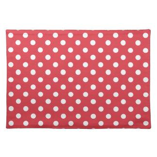 Poppy Red Polka Dot Place Mat