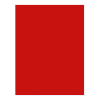 POPPY RED (solid deep red color) ~ Postcard
