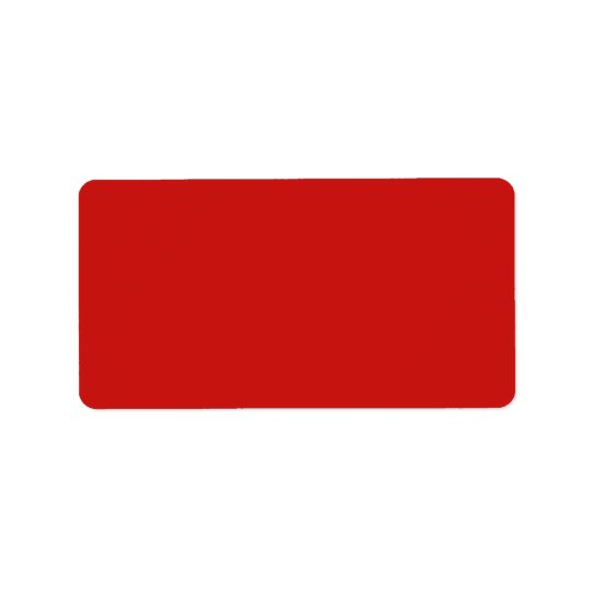 Poppy Red Trend Colour Customized Template Blank Label