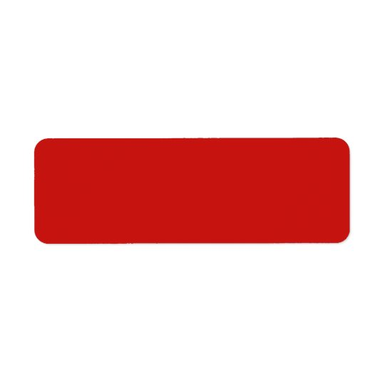 Poppy Red Trend Colour Customized Template Blank Return Address Label