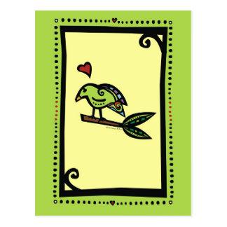 """POPPY"" THE LOVE BIRD POSTCARD"