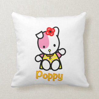 Poppy the Puppy Throw Pillow