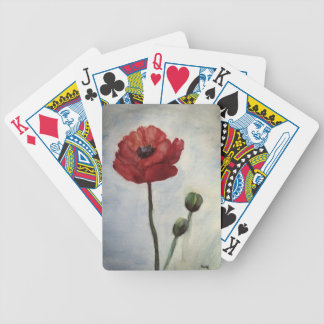 Poppy Watercolor art Bicycle® Poker Playing Cards