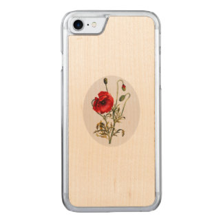 Poppy Watercolor Carved iPhone 8/7 Case