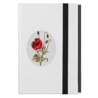 Poppy Watercolor Case For iPad Mini
