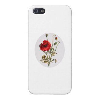 Poppy Watercolor Case For The iPhone 5