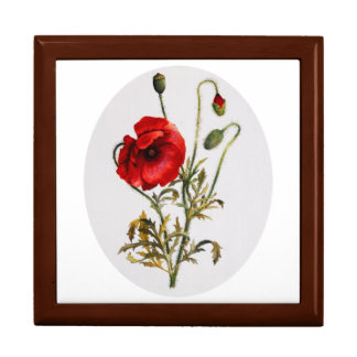 Poppy Watercolor Gift Box