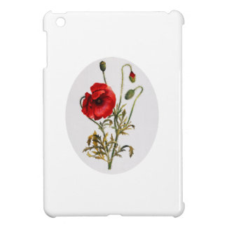 Poppy Watercolor iPad Mini Cover