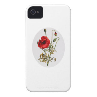 Poppy Watercolor iPhone 4 Cover
